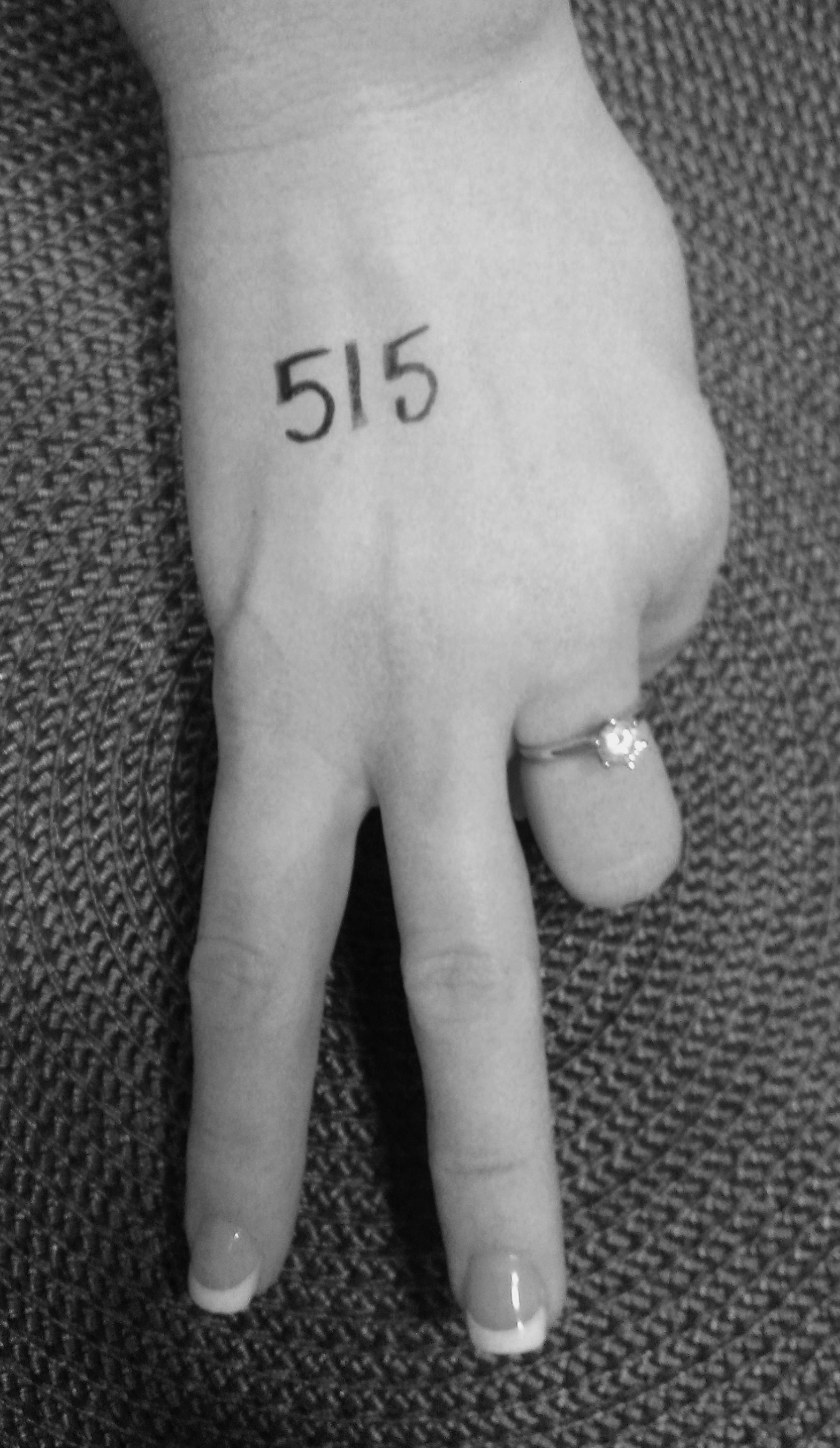 "The next time someone looks at my engagement ring, I want them to ask,  ""What is 515?"" For the next month, I'm wearing these 3 digits every day  until ..."