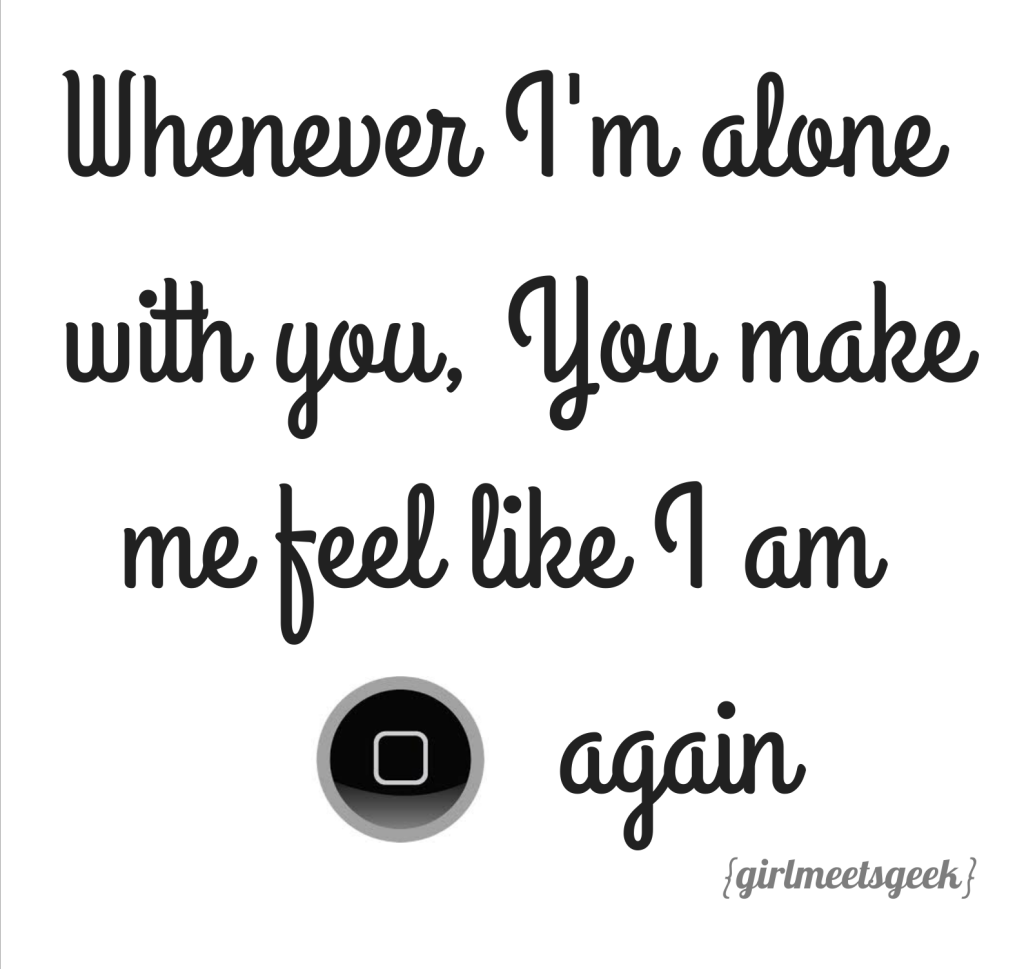 Whenever I'm Alone with you GMG